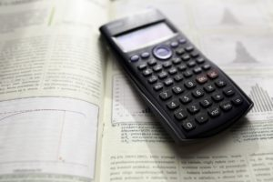 business metrics and a calculator