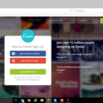 canva log in details